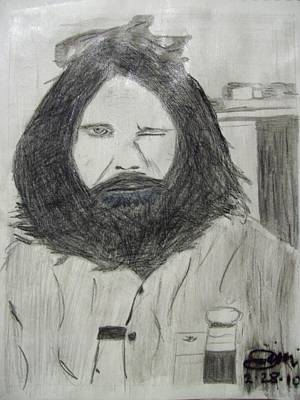 Jim Morrison Pencil Art Print by Jimi Bush