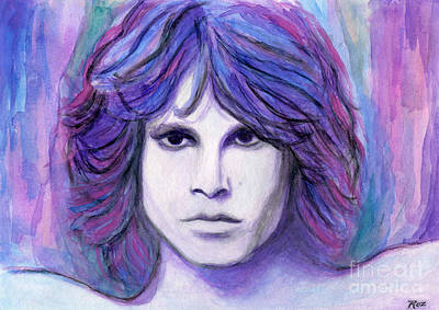 Painting - Jim Morrison by Roz Abellera Art