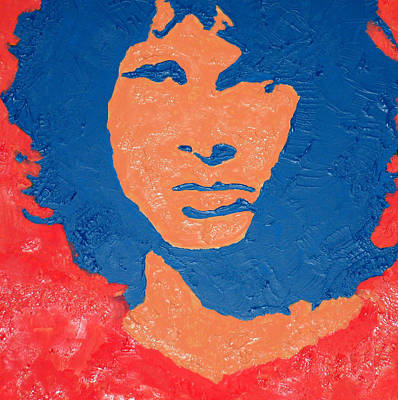 Jim Morrison Seeing Red Art Print