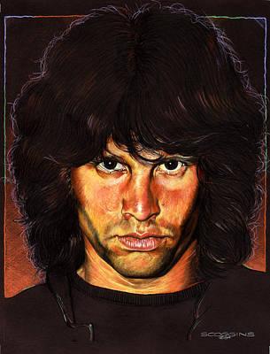 Rock Stars Painting - Jim Morrison by Tim  Scoggins