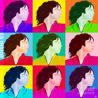 Hockey Heroes Painting - Jim Morrison Weird Scenes by Neil Finnemore