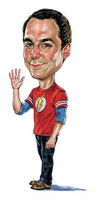 Comics Royalty-Free and Rights-Managed Images - Jim Parsons as Sheldon Cooper by Art