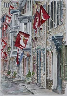 Cobblestone Painting - Jim Thorpe by Anthony Butera