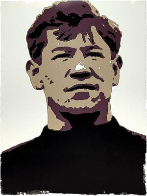 Painting - Jim Thorpe Poster Art by Florian Rodarte