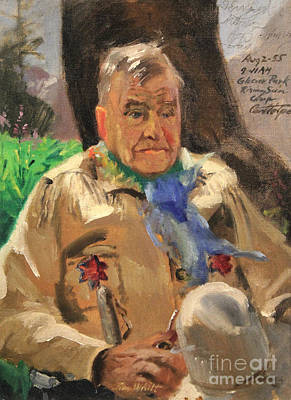 1950s Portraits Painting - Jim Wilt - Mountain Poet by Art By Tolpo Collection