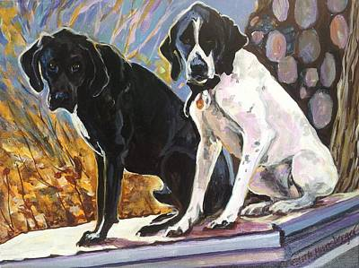 Painting - Jimbo And Frannie by Edith Hunsberger