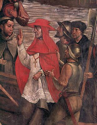 Crucifix Painting - Jimenez De Cisneros (1436-1517) by Granger