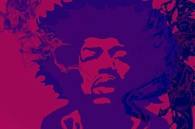 Jimi Hendrix Digital Art - Jimi 2 by Cindy Edwards