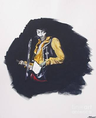 Jimi At Monterey 2 Art Print