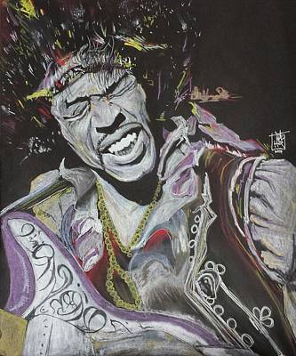 Jimi Art Print by DMo Herr