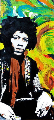 Jimi Art Print by Erica Falke