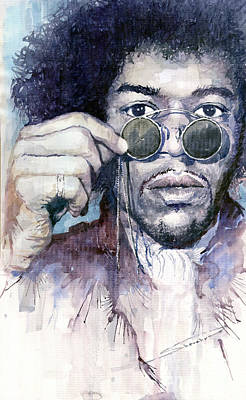 Jimi Hendrix Wall Art - Painting - Jimi Hendrix 08 by Yuriy Shevchuk