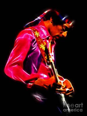 Jimi Hendrix 1 Art Print by Paul Green