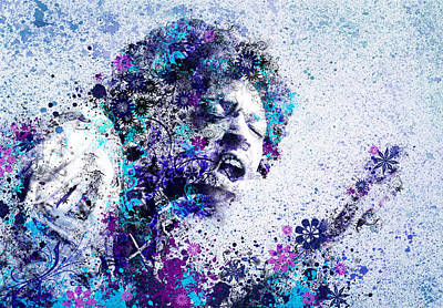 Jimi Hendrix Digital Art - Jimi Hendrix 2 by Bekim Art