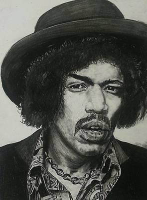 Drawing - Jimi Hendrix by Aaron Balderas