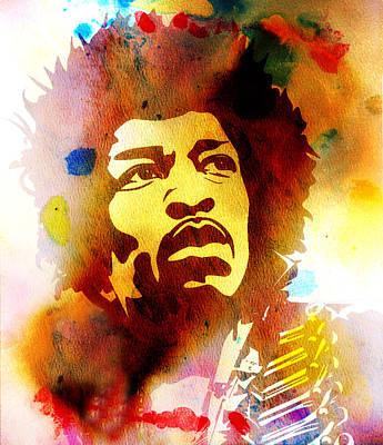 Photograph - Jimi Hendrix by Andrew Fare