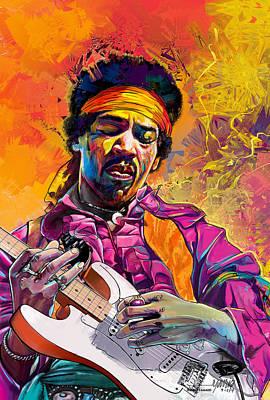 Jimi Hendrix #1 Art Print by Ruben Furio