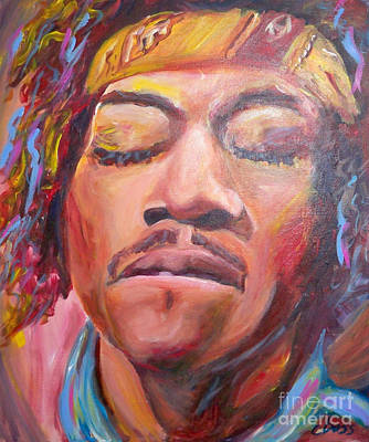 Jimi Hendrix Art Print by Carol Boss