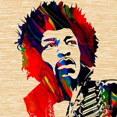 Sixties Mixed Media - Jimi Hendrix Collection by Marvin Blaine