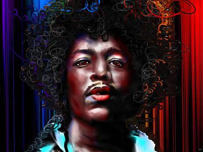 Jimmy Hendrix Painting - Jimi Hendrix Color by Daniel Janda
