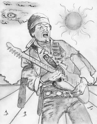 Jimi Hendrix Art Print by Dan Twyman