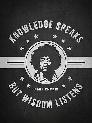 Jimi Hendrix Digital Art - Jimi Hendrix - Dark by Aged Pixel