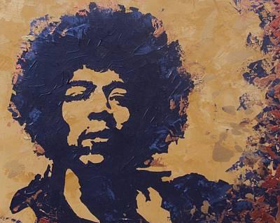 Jimi Hendrix Print by David Shannon