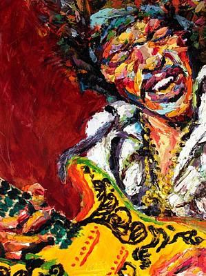Derek Russell Wall Art - Painting - Jimi Hendrix by Derek Russell