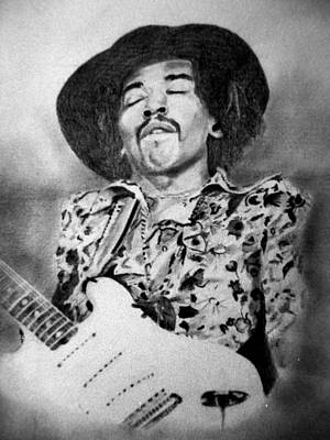Drawing - Jimi Hendrix by Derrick Parsons