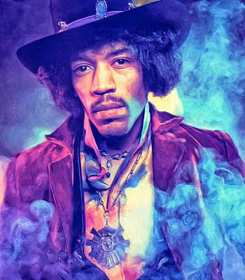 Jimi Hendrix Art Print by Dominic Piperata