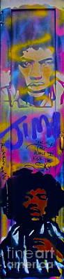 Music Paintings - Jimi Hendrix Door by Tony B Conscious