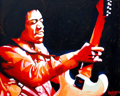 Gypsy Band Painting - Jimi Hendrix by Eric Henderson