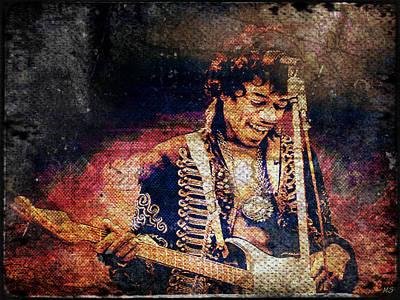 Jimi Hendrix - Guitar Art Print by Absinthe Art By Michelle LeAnn Scott