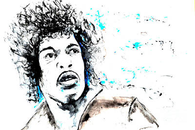 Jimi Hendrix   Art Print by Ismeta Gruenwald