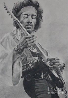Jimmy Drawings Drawing - Jimi Hendrix by Jason Klein