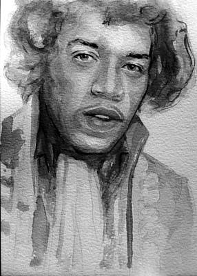 Art Print featuring the painting Jimi Hendrix by Laur Iduc