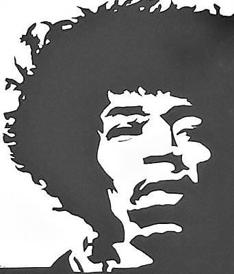 Painting - Jimi Hendrix by Lew Griffin