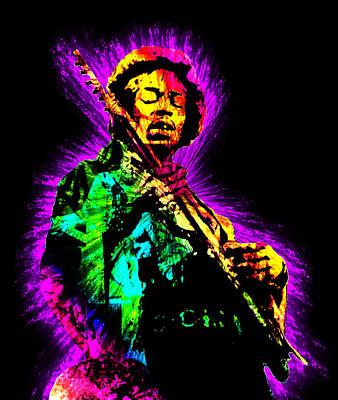 Jimi Hendrix Print by Michael Lee
