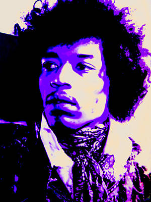 Mixed Media - Jimi Hendrix by Michelle Dallocchio