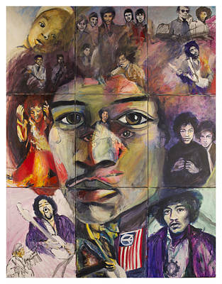 Famous Musicians Painting - Jimi Hendrix by Mona DiFiore