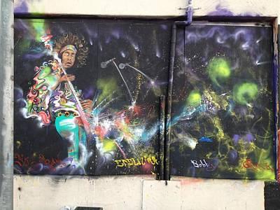 Painting - Jimi Hendrix Mural by Erik Franco