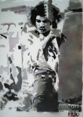 Jimi Hendrix  On Plexiglass Art Print by Barry Boom