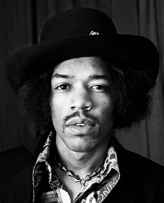 Photograph - Jimi Hendrix Portrait 1967 by Chris Walter