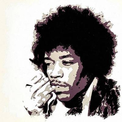 Painting - Jimi Hendrix Poster Art by Florian Rodarte