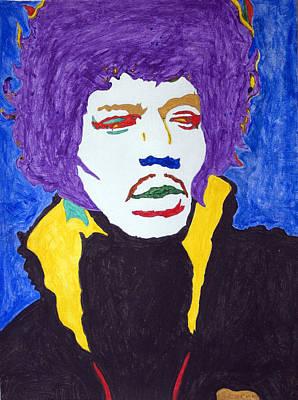 Negro Painting - Jimi Hendrix Purple Haze  by Stormm Bradshaw