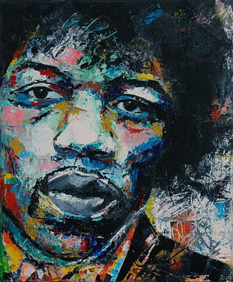 Music Legends Painting - Jimi Hendrix by Richard Day