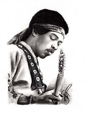 Drawing - Jimi Hendrix by Rosalinda Markle