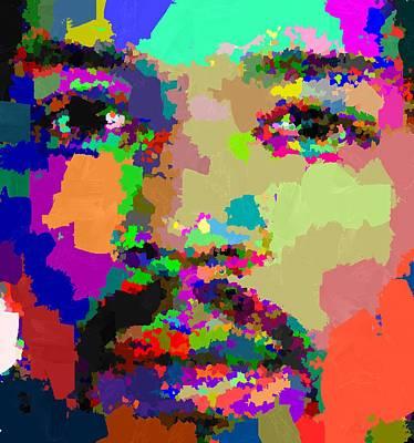 Painting - Jimi Hendrix by Samuel Majcen