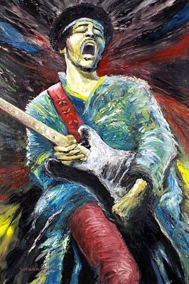 Painting - Jimi Hendrix Spanish Castle Magic by Mike Underwood