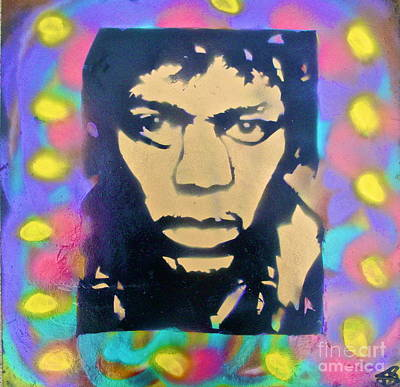 Abstract Male Faces - Jimi Hendrix Squared by Tony B Conscious
